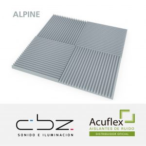 Alpine Premium Gris Perla 50mm Ignífugo 61x61cm