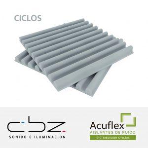 Ciclos Premium Gris Perla 20mm Ignífugo 61x61cm