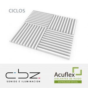 Ciclos Premium Blanco 20mm Ignífugo 61x61cm