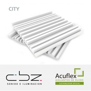 City Premium Blanco 20mm Ignífugo 61x61cm