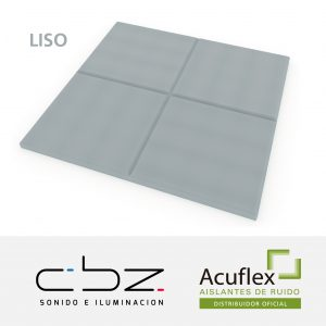 Liso Premium Gris Perla 20mm Ignífugo 61x61cm