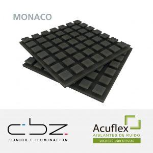 Monaco Pro Gris Topo 40mm Retardante Llama 49x49cm