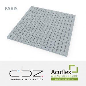 Paris Premium Gris Perla 40mm Ignífugo 61x61cm