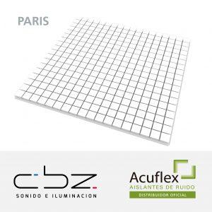 Paris Premium Blanco 40mm Ignífugo 61x61cm