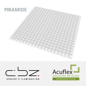 Pirámide Premium Blanco 30mm Ignífugo 61x61cm