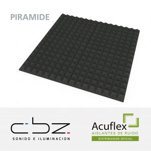 Pirámide Basic Gris Topo 30mm 49x49cm